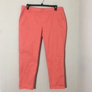 Khakis by Gap Vintage Roll Crop Pants Coral Sz 16